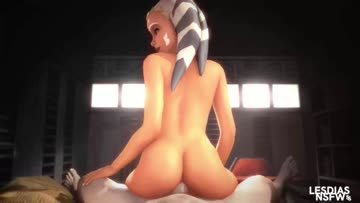 ahsoka bonding with anakin after a long mission
