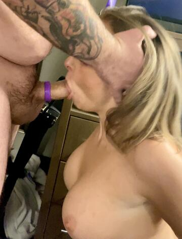 i love being on my knees worshiping a big thick cock in front of my husband