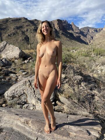 happiest when i'm naked outdoors