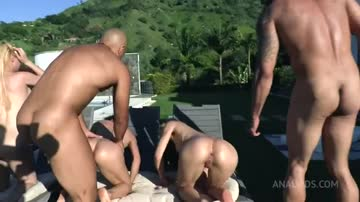 spreading their beautiful assholes by the pool!
