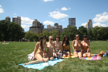 the outdoor co-ed topless pulp fiction appreciation society (octpfas) -- inaugural gathering | central park, new york city | august 2011