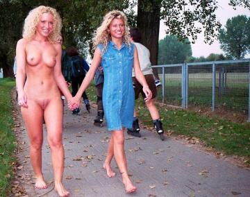 a barefoot walk.
