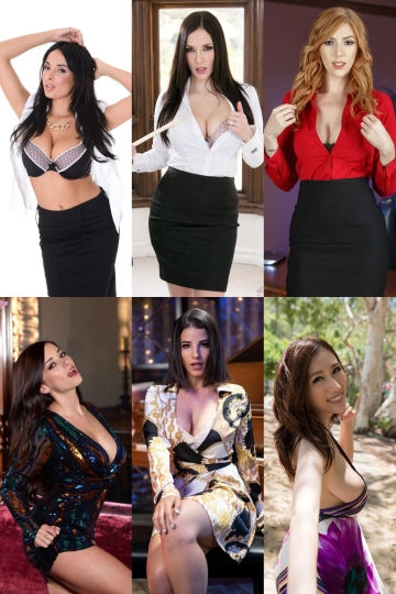 anissa kate, jelena jensen, lauren phillips, taylor vixen, antonella alonso (la sirena 69) and julia kyoka. pick one to be your personal assistant who you can fuck everytime you get horny