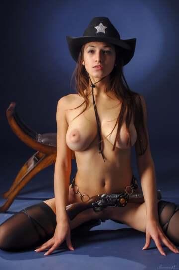 sexy sheriff on duty!