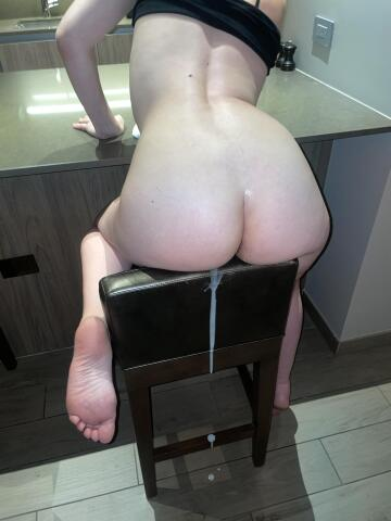 not my husband's cum but he did clean it up afterwards