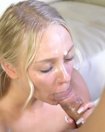 he cums all over her face
