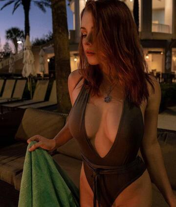 in swimsuit