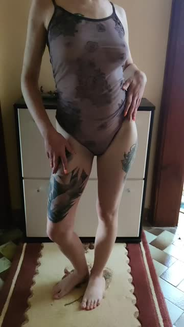 small tits erect nipples see through clothing white girl tattoo extra small bodysuit