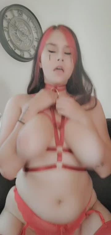 scarlet red huge tits big tits porn video