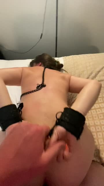 brunette doggystyle handcuffed sub spanking free porn video