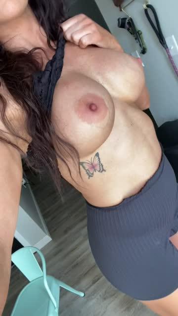 fake tits flashing strip milf free porn video