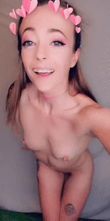 skinny eye contact nipple piercing petite porn video