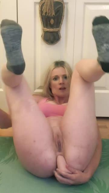 ass spread masturbating socks female free porn video