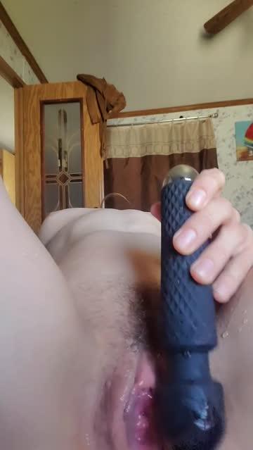 brunette long hair glasses vibrator pussy wet xxx video