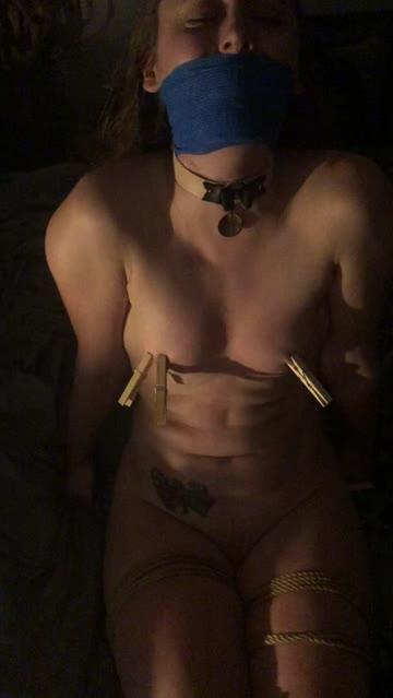 flogging bondage nipple clamps nsfw video